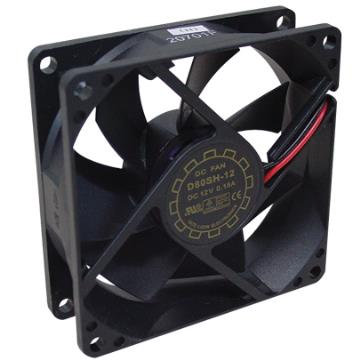 COOLER 12V  80X80X25MM  SEM CONECTOR (2 fios)