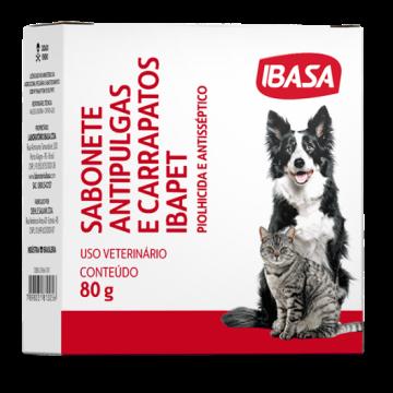 Sabonete Anti-Pulgas Ibasa para Cães e Gatos - 80 g