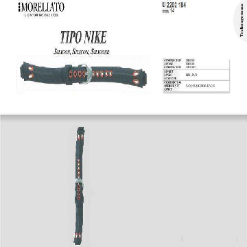 TIPO NIKE PULSEIRA DE SILICONE U2202 184