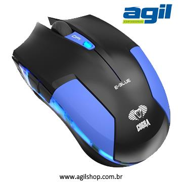 MOUSE GAMER 6 BOTÕES 1600DPI COBRA TYPE-M E-BLUE