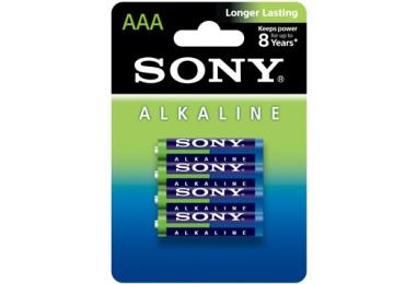 Pilha Alcalina Sony AAA AM4L-B4D c/ 4 unidades
