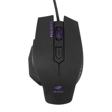 Mouse C3Tech Gamer Harpy MG-100BK Preto 3200DPI