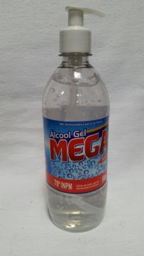 ALCOOL GEL 70° ANTISSEPTICO C/ PUMP MEGA 500 ML *