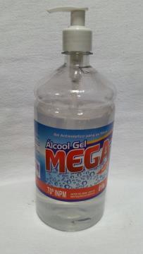 ALCOOL GEL 70° ANTISSEPTICO C/ PUMP MEGA 900 ML *
