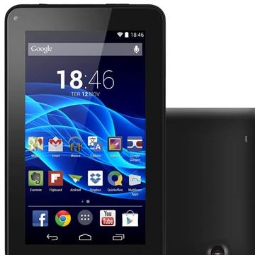 "Tablet M7-S NB184, Quad Core , Preto , Tela 7"", WiFi , Android 4.4 , 2MP , 8G (Emb. contém 1un.) - Multilaser"
