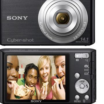Câmera Digital W610 Preta 14.1MP , c/ 4x de Zoom Óptico , Foto Panorâmica 360º , + Cartão 4GB (Emb. contém 1un.) - Sony