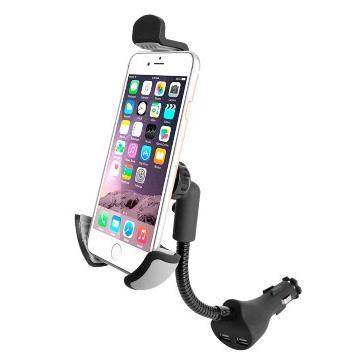 Suporte e Carregador Universal Veicular Smartphone com 2 entradas USB AC276
