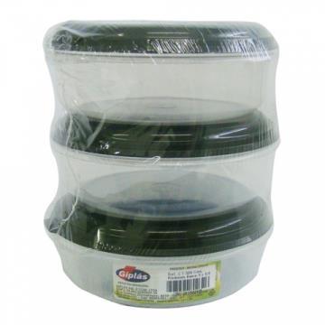 303209 Conjunto 3 Potes Plásticos Cores Variadas 600ml (cada)