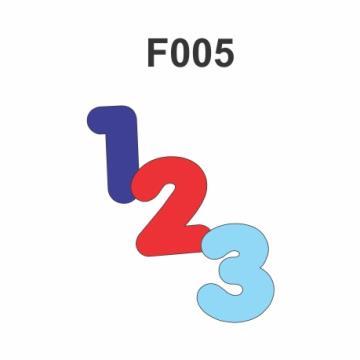 F005 - Molde PVC – Números - 3 cm de Altura