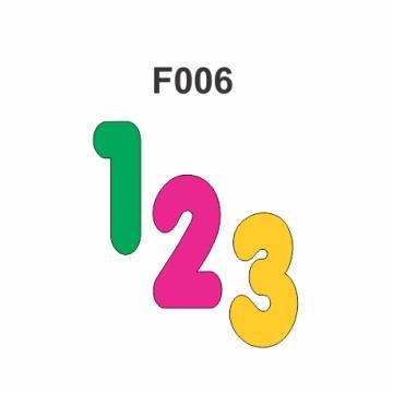F006 - Molde PVC – Números -  8,5 cm Altura