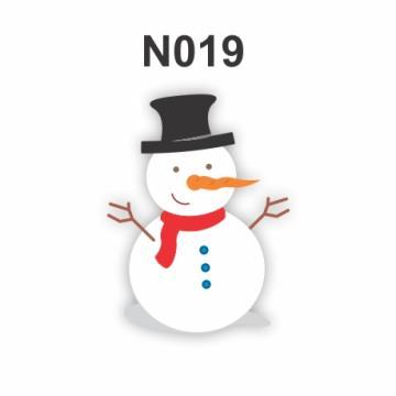 N019 - Molde PVC – Boneco de neve