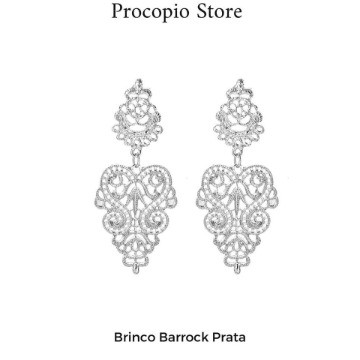 Brinco Barrock Prata