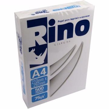 PAPEL SULFITE A4 75GR BRANCO RINO C/ 500 FOLHAS