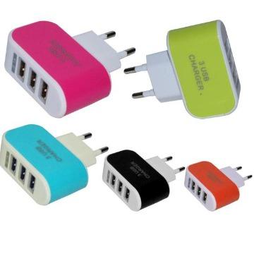 CARREGADOR USB 5V 3.1A (3 USB) p/ IPHONE / IPAD / SAMSUNG - AD0249