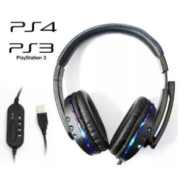 HEADSET USB KNUP KP-359 C/LEDs p/ PS3 e PC - HD06