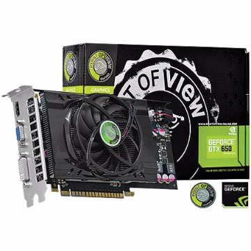 PLACA DE VIDEO PCIE GF GTX650 1GB DDR5 128BITS -POINT OF VIEW - 21697