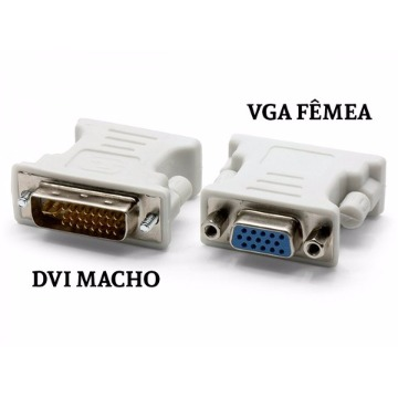 ADAP. DVI (M 24+5 pinos) / VGA (F) - CN19 / AD0083