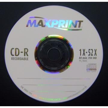 CD-R 700MB MAXPRINT (NO ENVELOPE)