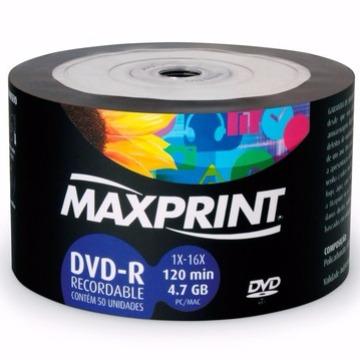 DVD 4.7GB 16X MAXPRINT (TUBO C/ 50 UNIDADES)