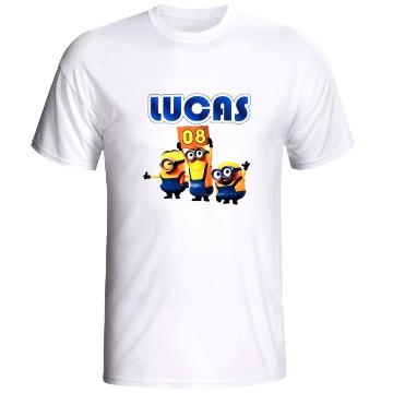 Camiseta Branca Adulto Personalizada