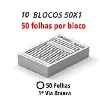 10 Blocos E Talões 50 Folhas Ap 75g - 1 VIA 10X15