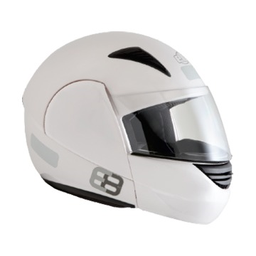 Capacete EBF Novo E8 Articulado Solid Branco