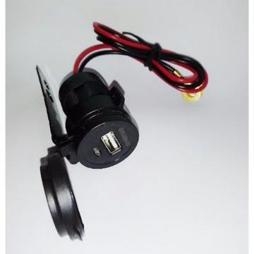Carregador USB para Celular 12V Preto