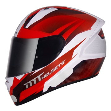 Capacete MT Stinger Divided White Red Red