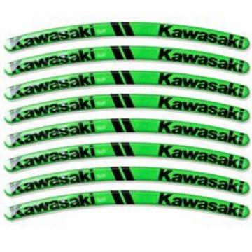Kit Adesivo Resinado para Roda Kawasaki