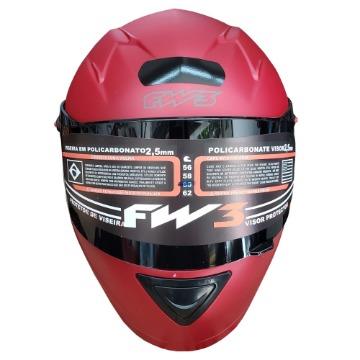 Capacete FW3 GT Classic Vermelho Bordô