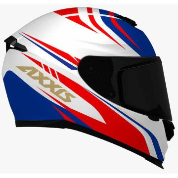Capacete Axxis Eagle Hibrid White/Blue/Red
