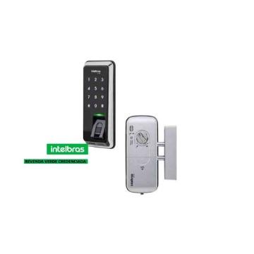 Fechadura Digital Intelbras FR-220 Biométrica e Teclado de Senha