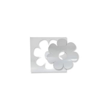 Espelho Decorativo Agir Adesivo de Parede Tema Flor Em Acrílico