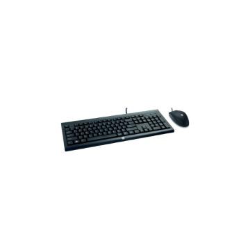 Teclado e Mouse óptico HP USB C2500 Com Fio 1200-Dpi