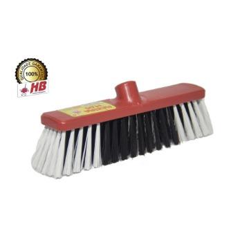 Vassoura de Limpeza HB Pelo Sintético Máxima Plus 40-cm Base Plástico Vermelha Rosca Universal Sem Cabo 12 Unidades