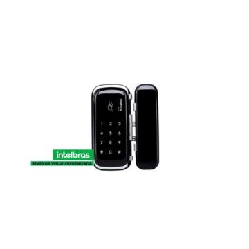 Fechadura Digital Intelbras FR-400 Teclado de Senha Porta de Vidro