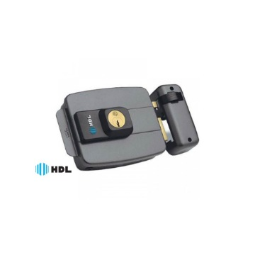 Fechadura Elétrica HDL C-90 Cilindro Fixo Dupla Cinza