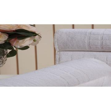 Toalha de Rosto Venesa Topazio Proftel Branco 100% Algodão 50x85-cm 10 Unidades