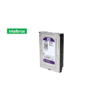 Drive de HD Intelbras Wd10-Purx 1-tb Sata Ii 5400-rpm 64-mb