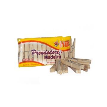 Prendedor de Roupas HB Madeira Especial Tamanho Tradicional 50 Duzias