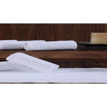 Toalha de Piso Venesa Topázio Proftel Branco 100% Algodão Tamanho 50x80-cm 06 Unidades