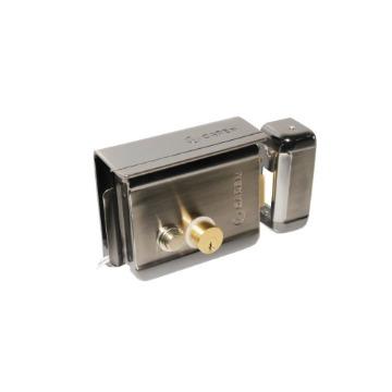 Fechadura Elétrica Garen GA-049 Ajustável 12V Reversível Botão de Acionamento