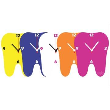 Relógio Kids Agir Decorativo de Parede Tema Dente - cores