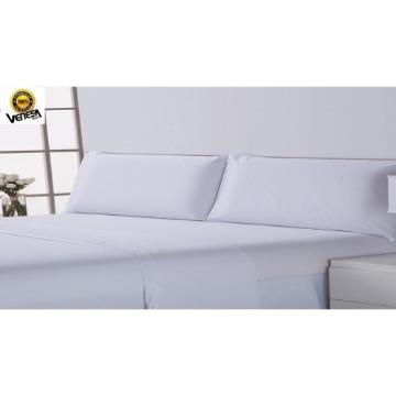 Lençol de Cama Tecido Misto Safira Hotel Venesa Branco Algodão/Poliester 250x280-cm