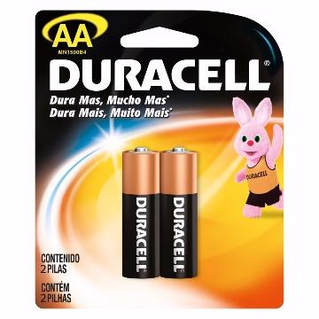 Pilha Duracell 1.5v AA 2 Unidades