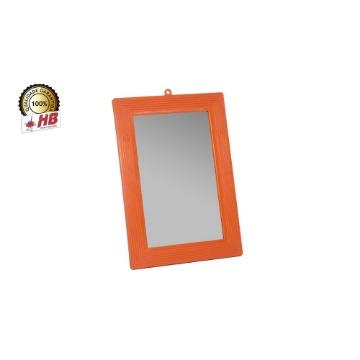 Espelho de Banheiro HB Parede Tamanho 16 Com Moldura Plástico Grande 12 Unidades
