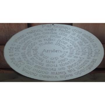Quadro Mandala Decorativo MDF Com Oração do Pai Nosso 30-cm