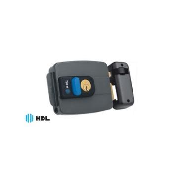Fechadura Elétrica HDL C-90 Dupla Cinza Com Botão de Acionamento