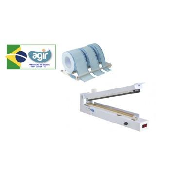 Seladora de Papel Grau Cirúrgico Agir Bancada Protect Seal Control Plus Kit 31-cm