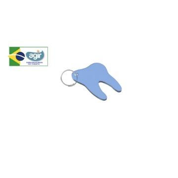 Chaveiro Kids Agir Decorativo Tema Dente Cores Sortidas Kit 50 Unidades